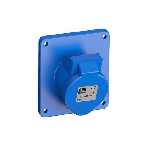Tomada Industrial de Embutir 2P+T 32A IP44 - 232BRA6