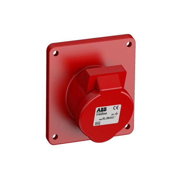 Tomada Industrial de Embutir 3P+T 16A IP44 - 316BRA6