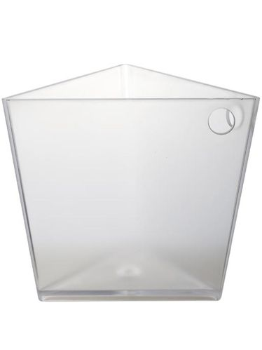 Balde para 1 Garrafa Triangular Transparente