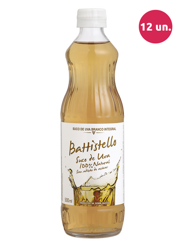 Battistello Suco de Uva Integral Branco 500 mL