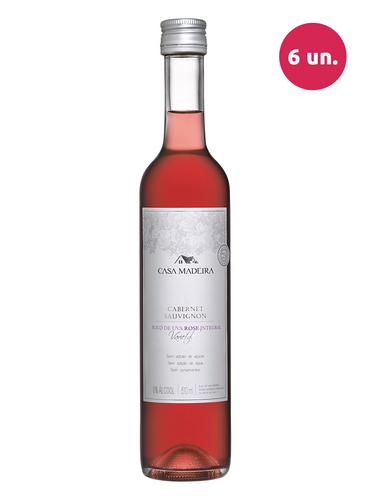Casa Madeira Suco de Uva Integral Rosé Cabernet Sauvignon 510 mL