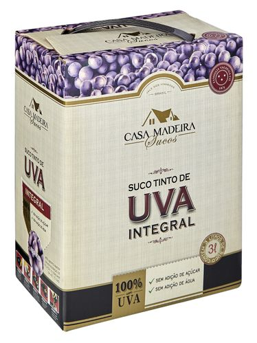 Casa Madeira Suco de Uva Integral Tinto Bag in Box 3000 mL