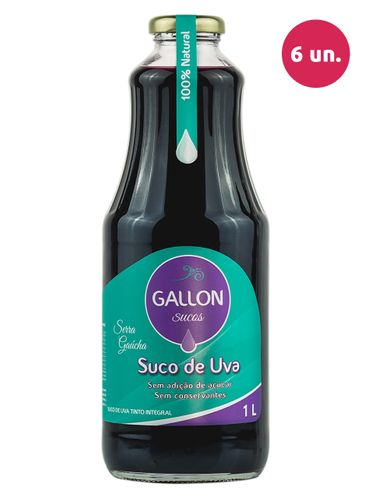 Gallon Suco de Uva Integral Tinto 1000 mL