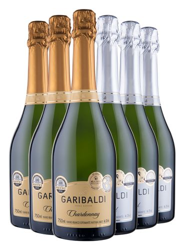 Kit MasterChef Espumante Garibaldi 3x Chardonnay Brut / 3x Moscatel