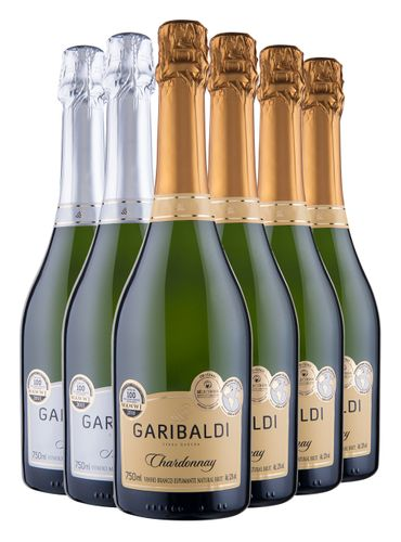 Kit MasterChef Espumante Garibaldi 4x Chardonnay Brut / 2x Moscatel