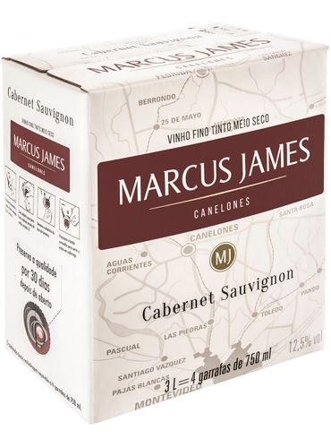 Marcus James Cabernet Sauvignon Demi-Sec Bag in Box 3000 mL