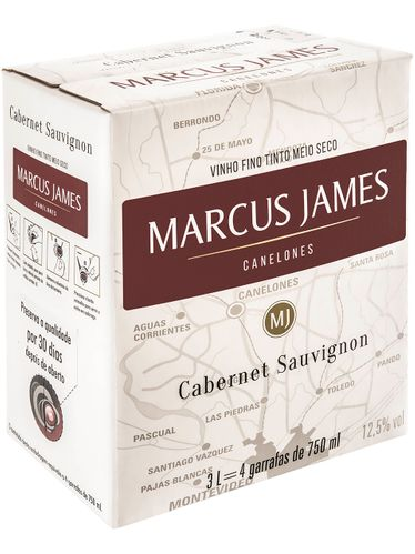 Marcus James Cabernet Sauvignon Demi-Sec Bag in Box 3000 mL