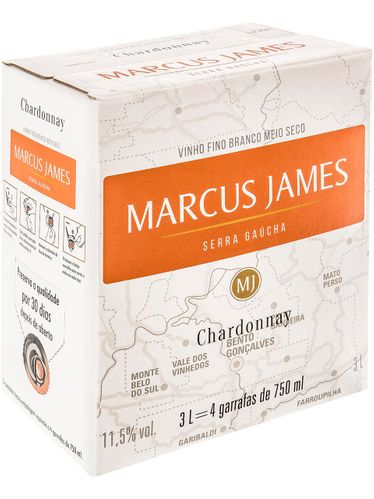 Marcus James Chardonnay Demi-Sec Bag in Box 3000 mL