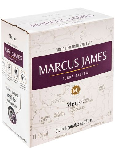 Marcus James Merlot Demi-Sec Bag in Box 3000 mL