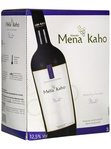Mena Kaho Merlot Bag in Box 3000 mL