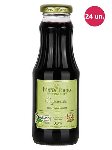 Mena Kaho Suco de Uva Integral Tinto Orgânico 300 mL