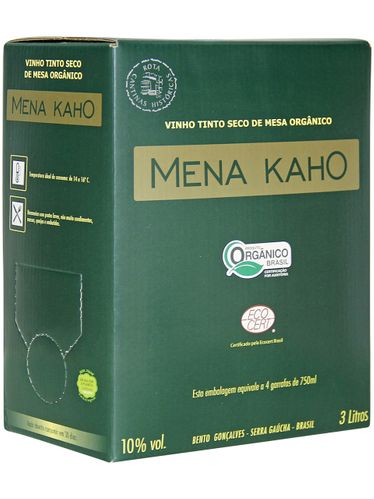 Mena Kaho Tinto Orgânico Bag in Box 3000 mL