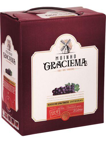 Moinho Graciema Suco de Uva Integral Tinto Bag in Box 3000 mL