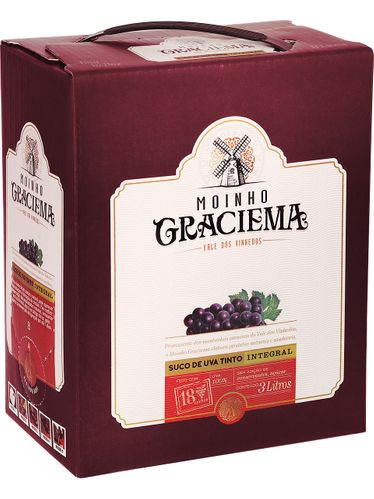 Moinho Graciema Suco de Uva Integral Tinto Bag in Box 3000 mL