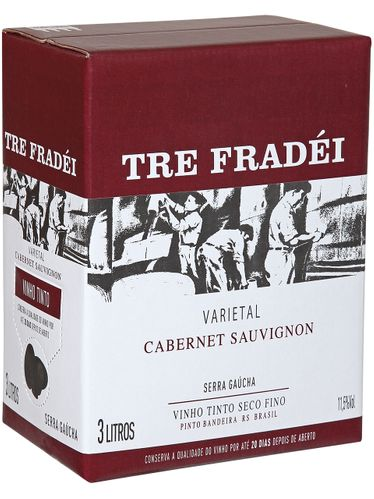 Tre Fradei Cabernet Sauvignon Bag in Box 3000 mL
