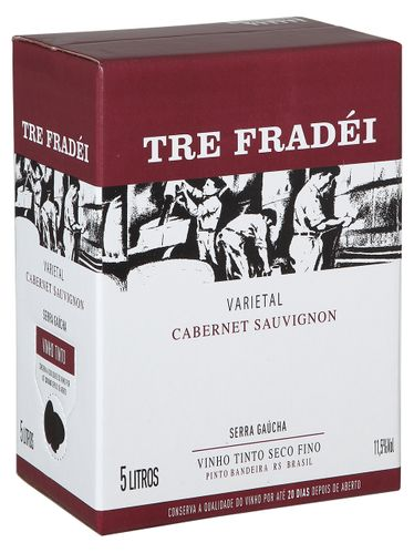 Tre Fradei Cabernet Sauvignon Bag in Box 5000 mL