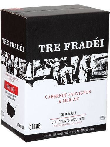 ​Tre Fradei Cabernet Sauvignon & ​Merlot Bag in Box 3000 mL