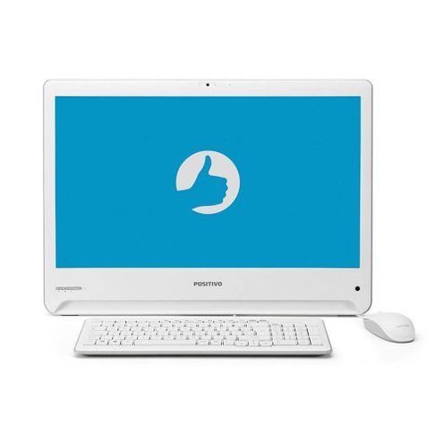 "All In One Positivo Union I341Ta Core I3 4Gb 1000Gb (1Tb) Linux Tela Led 18.5"" Hd Branco"