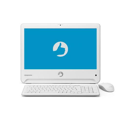 """All In One Positivo Union Ud3630 Intel Celeron N3060 4Gb Ram 32Gb Flash 18,5"""" Led Hd Win10H-Branco"""