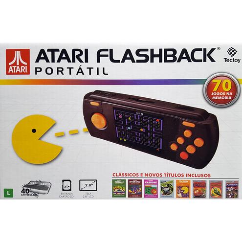 Atari Flashback® Portátil com 70 Jogos na Memória Tectoy