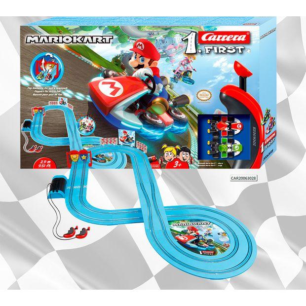 Autorama Pista Eletrica Carrera Mario Kart Nintendo Mario X Luigi 2,9 Metros - Car20063028