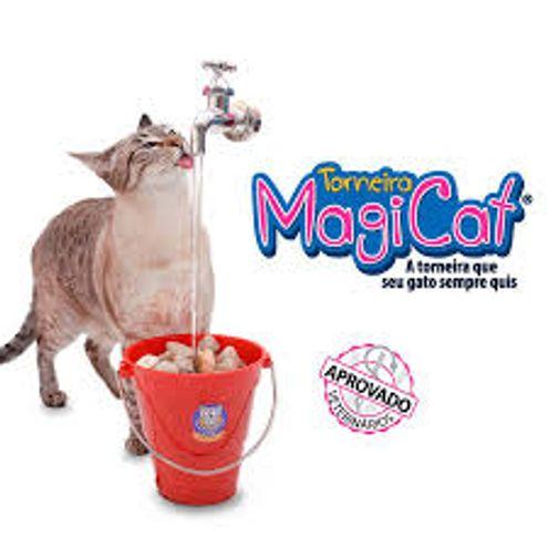 Bebedouro para Gatos Fonte para Gatos Torneira Magicat Vermelho