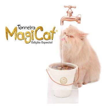 Bebedouro Torneira Para Gatos Magicat Edição Especial Gold