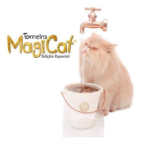 Bebedouro Torneira para Gatos Magicat Edição Especial Gold 220V