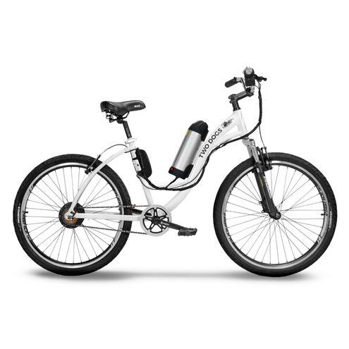 Bicicleta Two Dogs Aro 26 Slim Branca Elétrica