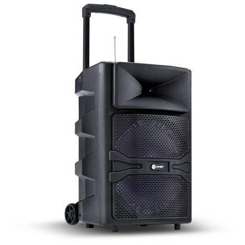 """Caixa de Som Multiuso 180W 12"""" Bluetooth Usb/sd/aux/mic com Bateria e Carrinho Cp200Bt"""
