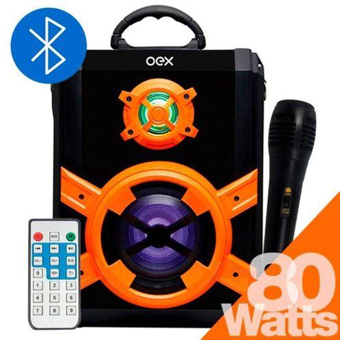 Caixa de Som Speaker Blast Sk600 80W Rms Recarregável Oex