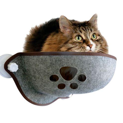 Cama de Janela para Gatos com Ventosa Nilho Cinza