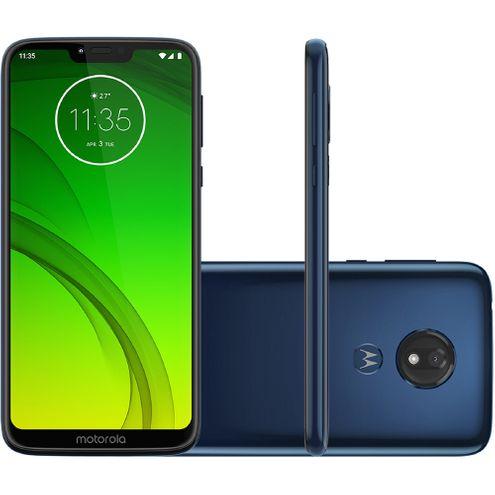 "Smartphone Motorola G7 Power Xt1955 64Gb Dual Tela 6.2"" 1.8 Ghz Octa-Core 4G Câm 12Mp - Azul Navy"