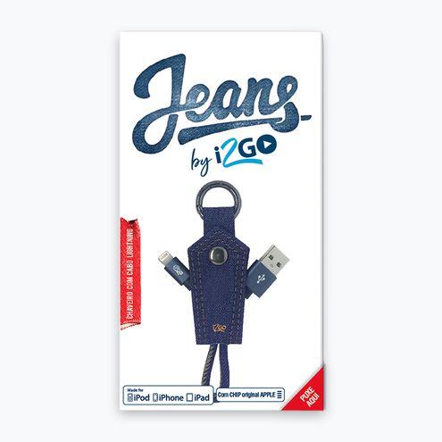 Chaveiro Cabo Lightning Jeans I2Go I2Gcbl945 para Iphone