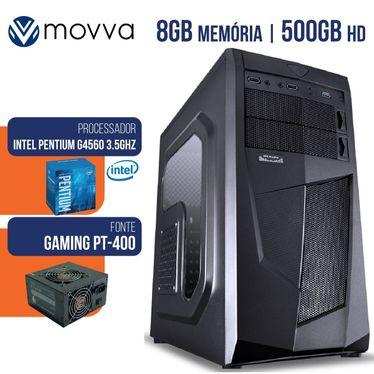 Computador Gamer Intel Pentium G4560 3.5ghz 7ª Geracao Mem 8gb Ddr4 Hd 500gb Hdmi/Vga Fonte 400w Linux