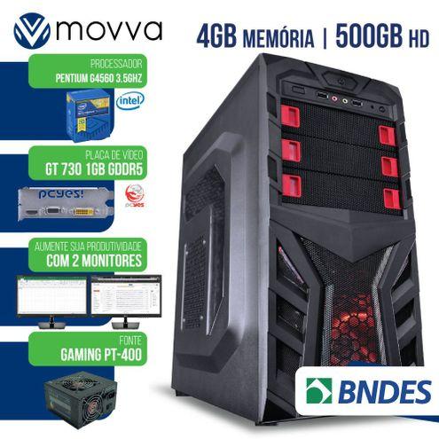 Computador Intel Pentium G4560 7ªGer Mem4Gb Hd500Gb Vga Gt7301Gb Fonte400W Linux Suporta 2 Monitores