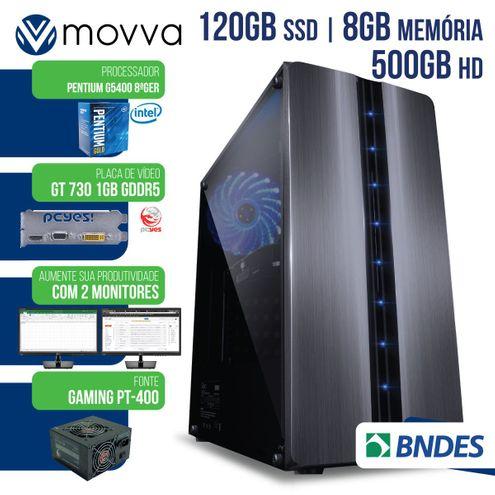 Computador Intel Pentium G4560 7ªGer Mem8Gb Hd500Gb Ssd120Gb Vga Gt7301Gb Fonte400W Suporta 2Monitor