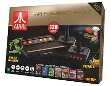 Console Retro Atari Flashback 9 Gold Deluxe Game com 120 Jogos Ar 3650TT