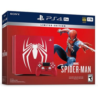 Console Sony PlayStation 4 Pro 1TB 4K HDR Spider-Man Edição Limitada - Vermelho -BiVolt