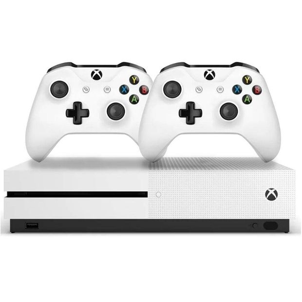 Console Xbox One S 1Tb 4K 2 Controles Branco - Microsoft - M1681 Xc/pt Brasil