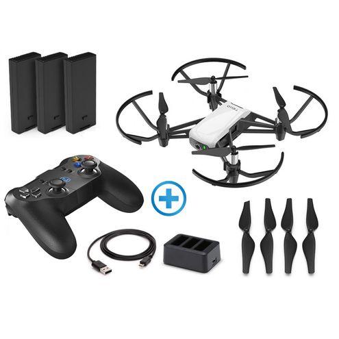 Drone Dji Cp.tl.00000017.01 Tello Boost Combo Arctic White + Radio Controle Gamesir T1D Bluetooth