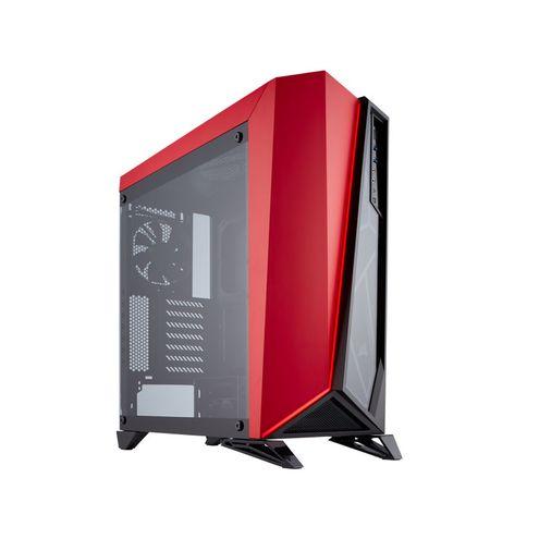 Gabinete Gamer Corsair Cc-9011120-Ww Spec-Omega com Vidro Temperado Preto/vermelho