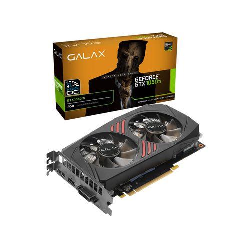 Geforce Galax Gtx Performance Nvidia Gtx 1050Ti Dual Fan One Click 4Gb Ddr5 128Bit 7008Mhz Dvi Hdmi