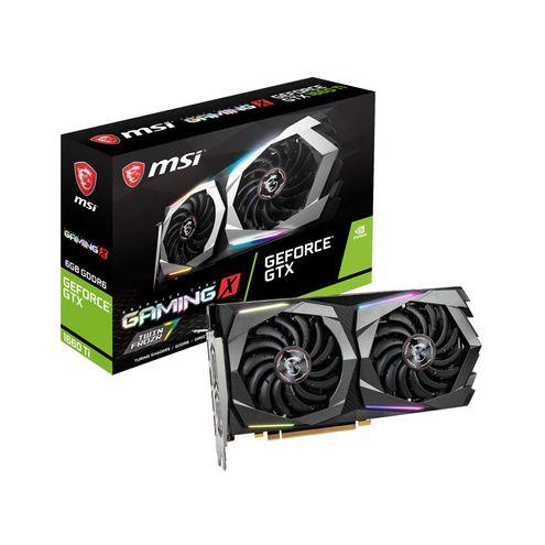 Geforce Msi Gtx Entusiasta Nvidia Gtx 1660 Ti Gaming X 6Gb Ddr6 192Bit 12000Mhz Dvi Hdmi