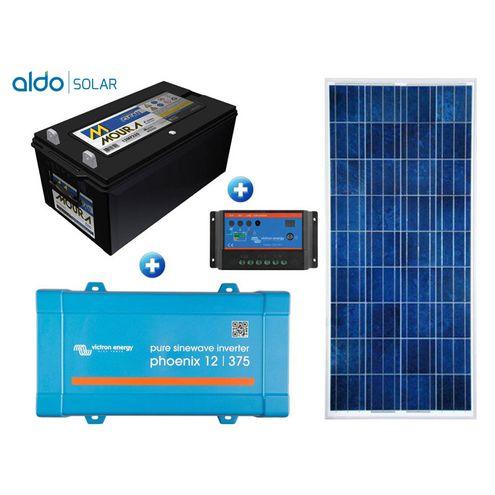 Gerador de Energia Victron Off Grid Aldo Solar Gef-Ogv375120Pg 375Va Saida 120V Autonomia 33 Horas