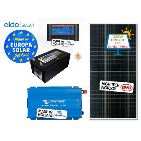 Gerador de Energia Victron Off Grid Aldo Solar Gef-Ogv800120Pg 800Va Saida 120V Autonomia 28 Horas