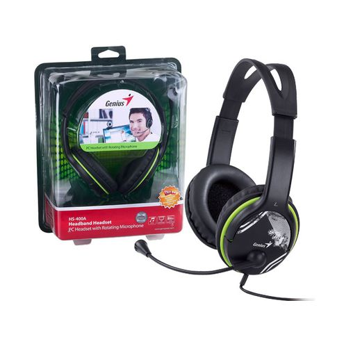 Headset Genius Hs-400A Headset Grafite Driver 40Mm
