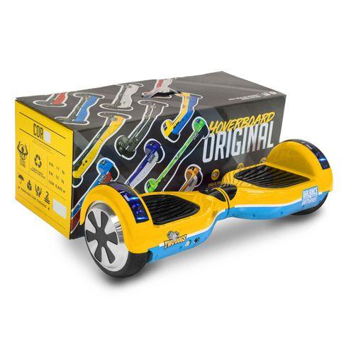 Hoverboard Teen Amarelo e Azul com Leds