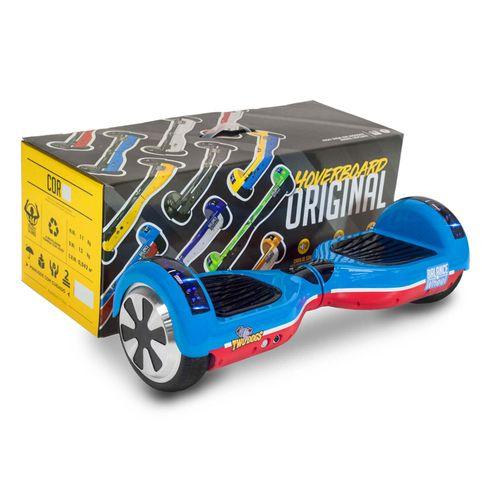 Hoverboard Teen Azul e Vermelho com Leds