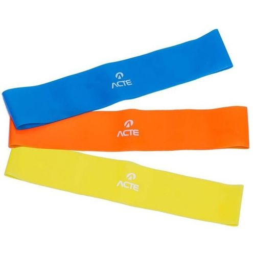 Kit Mini Band Amarelo / Laranja / Azul T71 Acte Sports